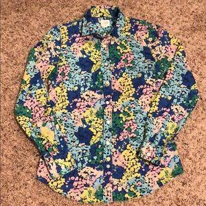 J. Crew XXS Button Down Floral Shirt